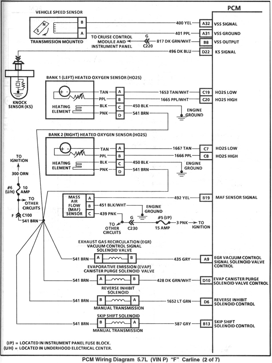 1995_pcm2 4th gen lt1 f body tech articles 1995 camaro wiring diagram at edmiracle.co