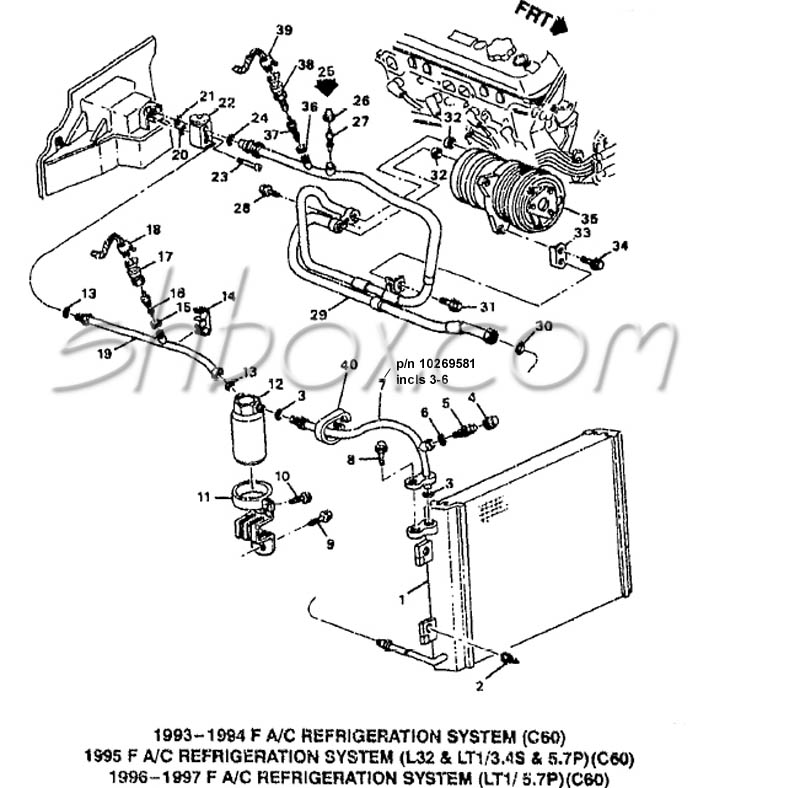 1995 z28 lt1 - a  c hose connection diagram