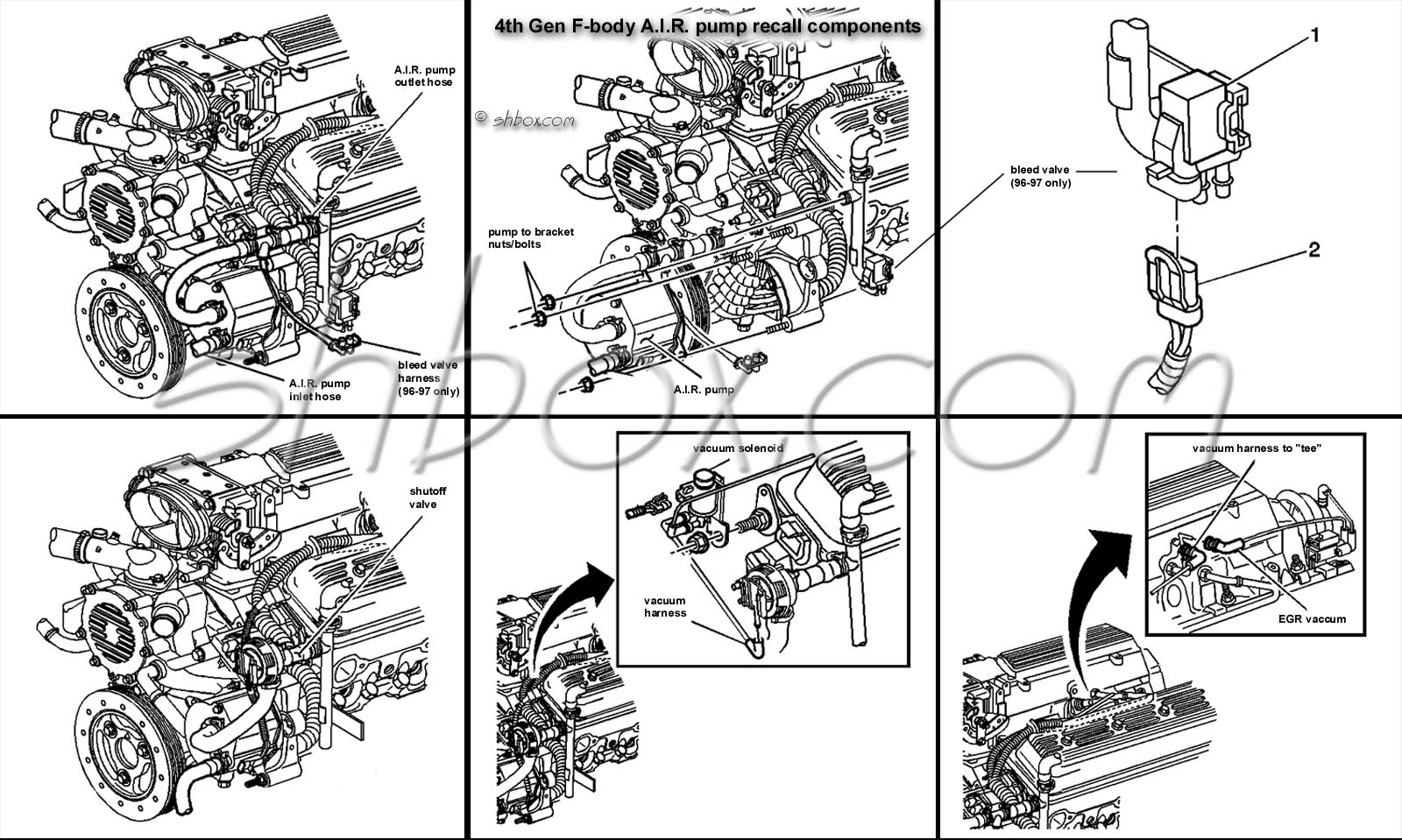 96 Camaro Engine Diagram Wiring Schematics 1967 Convertible Schematic 4th Gen Lt1 F Body Tech Aids Drawings Exploded Views 1996 Sell