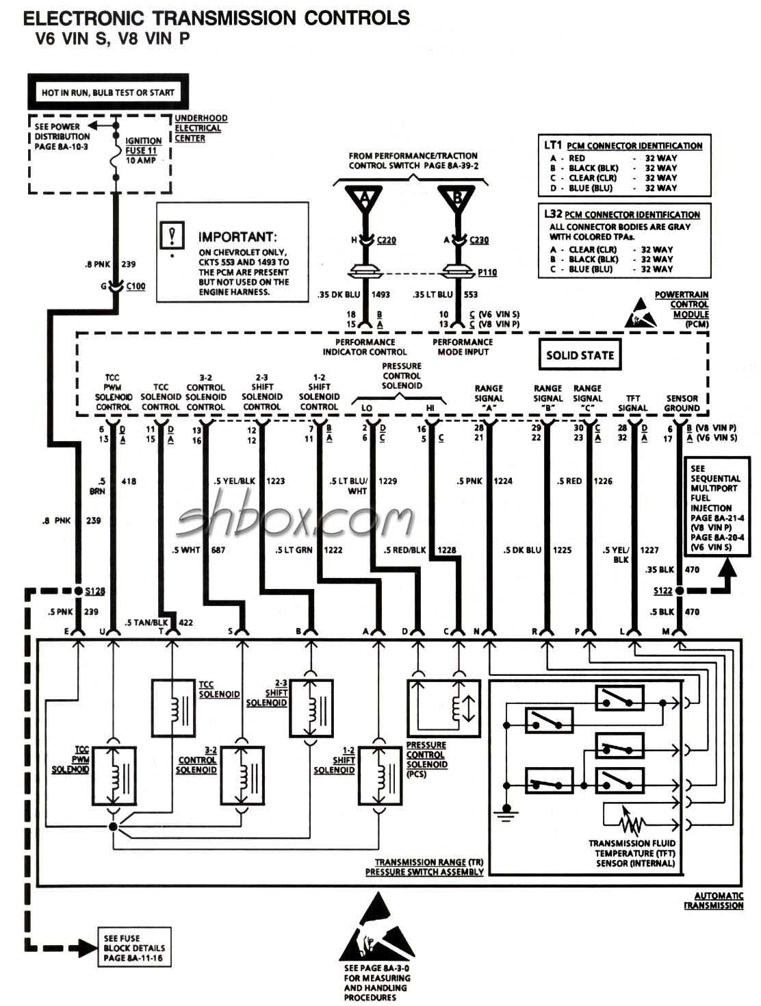 4th Gen Lt1 F Body Tech Aids Gmc Obd2 Wiring Diagram 4l60e Transmission Controls Schematic