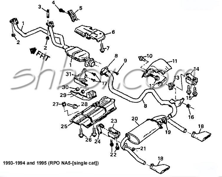 87 camaro exhaust diagram
