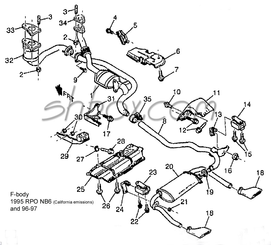 1997 S10 Exhaust Diagram