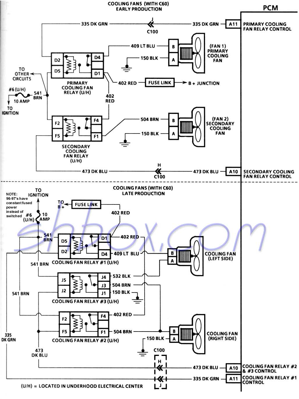 Cooling Fans Schematic