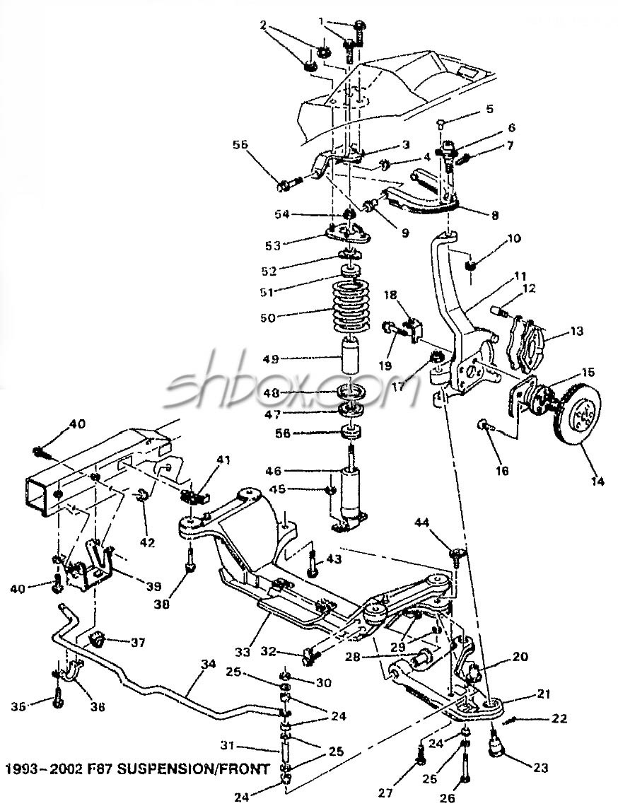 4th Gen Lt1 F Body Tech Aids Drawings Exploded Views 1993 Pontiac Grand Am Wiring Diagram Front Suspension View