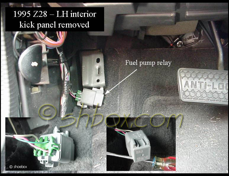 fuel pump relay  here is a picture of it  http://shbox com/1/fuel_pump_relay jpg