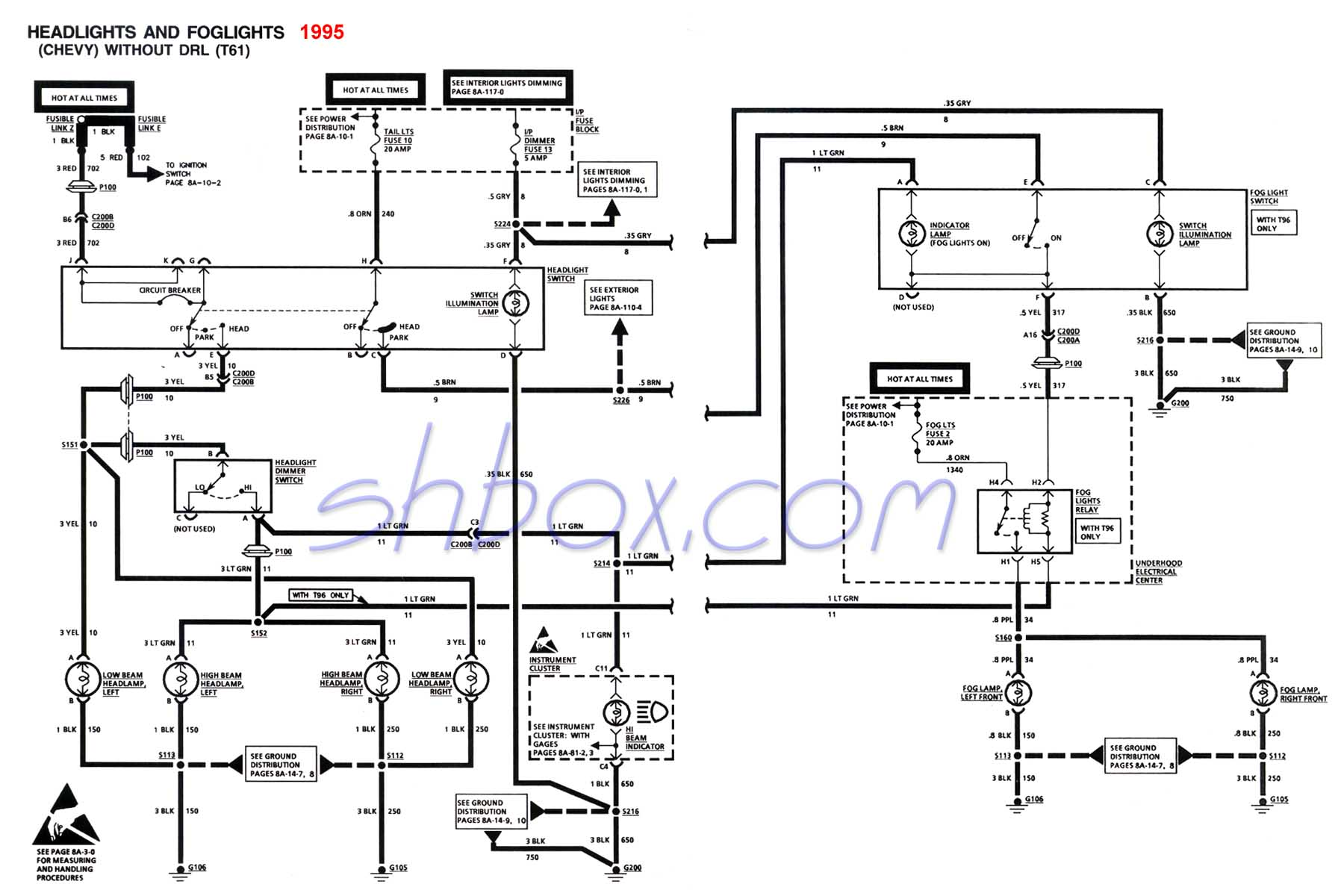 4th gen lt1 f body tech aids on 1973 Pontiac Firebird Wiring Diagram for headlight foglight schematic (1995 camaro) at 1967 Pontiac Catalina Wiring-Diagram