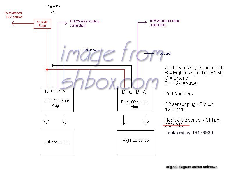 heatedsensor2 4th gen lt1 f body tech aids Denso O2 Sensor Wiring Diagram at bayanpartner.co