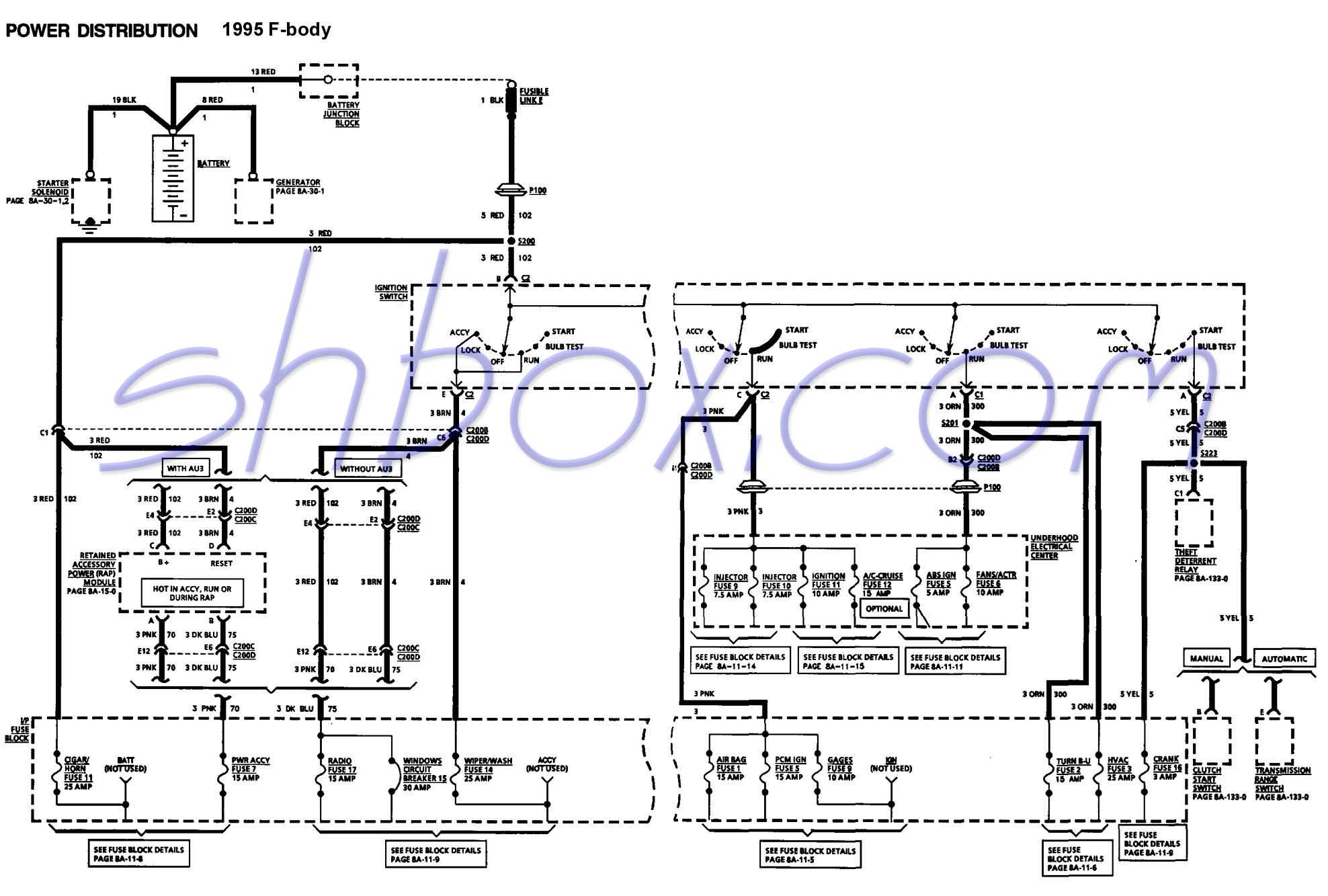 ignswschematic 4th gen lt1 f body tech aids 1995 camaro wiring diagram at edmiracle.co