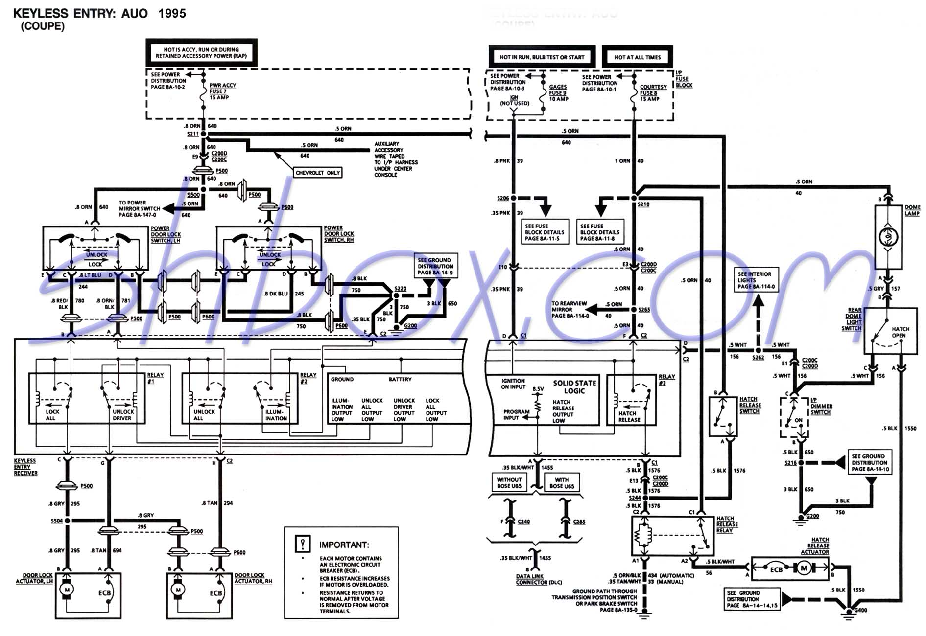 Keyless Entry Schematic (Coupe)