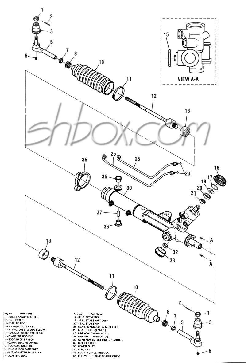 4th Gen Lt1 F Body Tech Aids Drawings Exploded Views Buick Suspension Diagram Rack And Pinion View